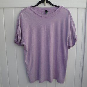 Distressed Purple Wild Fable S/S Knit Top Medium